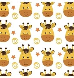 yellow giraffe cartoon background vector image