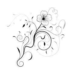 Abstract floral frame for design vector image vector image