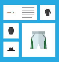 flat icon garment set of uniform trunks cloth vector image vector image
