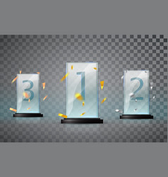 glass trophy isolated on a transparent background vector image