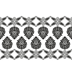 Seamless victorian floral border vector image
