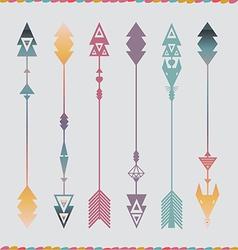 Art arrows collection vector image vector image