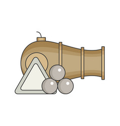 cannon flat vector image