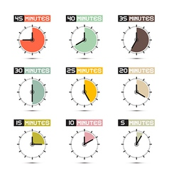 Clock Face Set vector image vector image