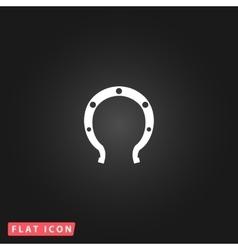 Horseshoe flat icon vector image vector image