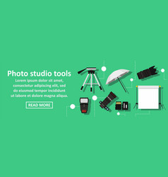 photo studio tools banner horizontal concept vector image