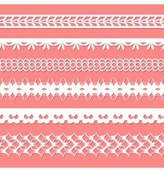 set of paper laces vector image