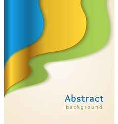 Blue and gold business background vector image
