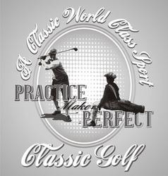 golf practice vector image vector image