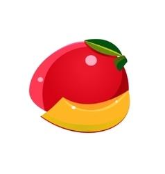 Mango Flat Sticker vector image vector image