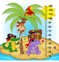 palm tree height measure vector image