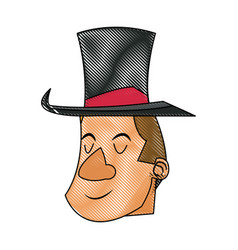 Character man host circus show image vector