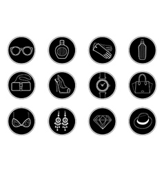 fashion icons set 1 vector image