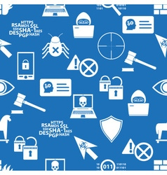 Hacker and computer security theme icons blue vector