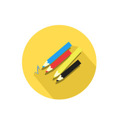pencil icon isolated on a white background vector image