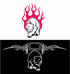 tattoo of a bear vector image vector image