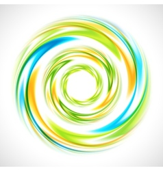 abstract blue green and yellow swirl circle bright vector image