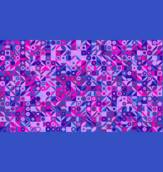 abstract colorful geometrical mosaic pattern vector image