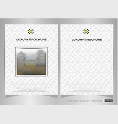 abstract of luxury white square pattern brochure vector image