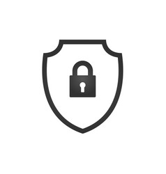 abstract security shield with lock security icon vector image