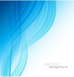 Abstract template background with blue curved wave vector image