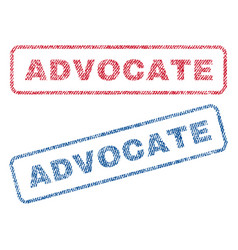 Advocate textile stamps vector