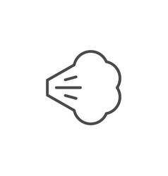 Air spray cloud line outline icon vector