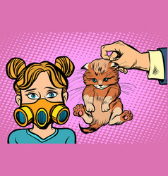 allergic to cat vector image
