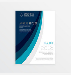 Annual report cover template brochure design with vector