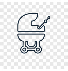 baby carriage concept linear icon isolated on vector image