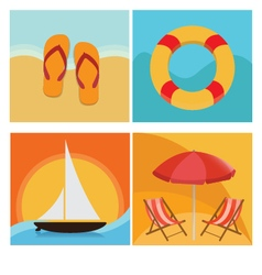 Beach and summer holiday vector