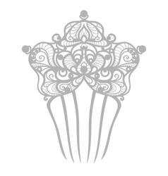 beautiful comb vector image