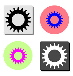 bicycle star chain flat icon vector image