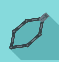 bike chains icon flat style vector image