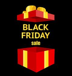black friday luxury sale open gift box vector image