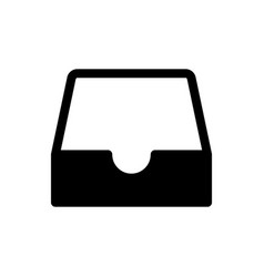 Black social media inbox icon isolated on white vector
