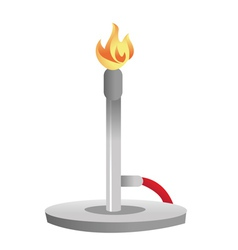 Bunsen burner vector