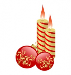 candles and balls vector image