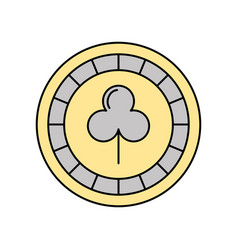 casino chips with clover vector image