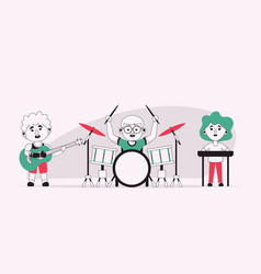 Character disabled kids vector