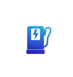 charging station for electric cars icon vector image