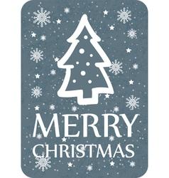 Christmas greeting with christmas tree dark vector