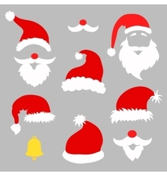 Christmas photo booth and scrapbooking set vector image