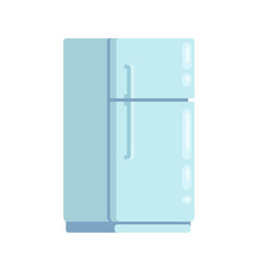 closed new fridge in cartoon flat style vector image