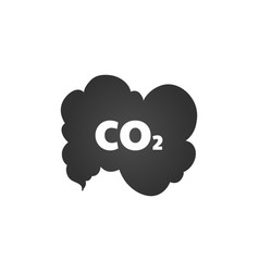 co2 emissions icon cloud flat carbon dioxide vector image