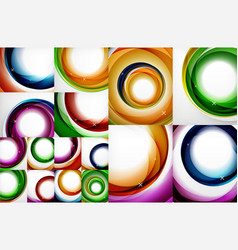 collection of circle abstract backgrounds vector image