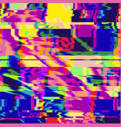 Colorful glitch art background vector