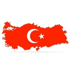 Creative pixel Turkey map vector image
