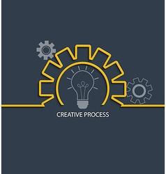 Creative process concept vector