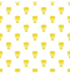 Cup for first place pattern cartoon style vector